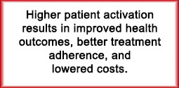 Improving Patient Engagement Higher Patient activation